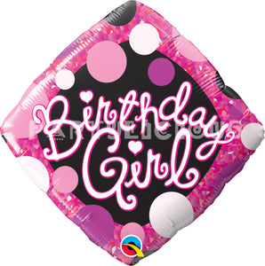 "18"" birthday girl pink black"