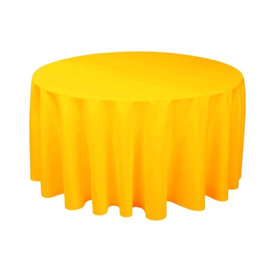 Yellow Round Plastic Tablecover