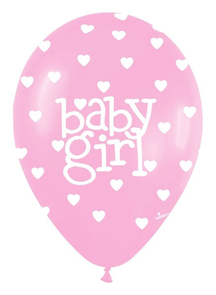 11 Inches Baby Girl Pink Balloons (Pack of 50)