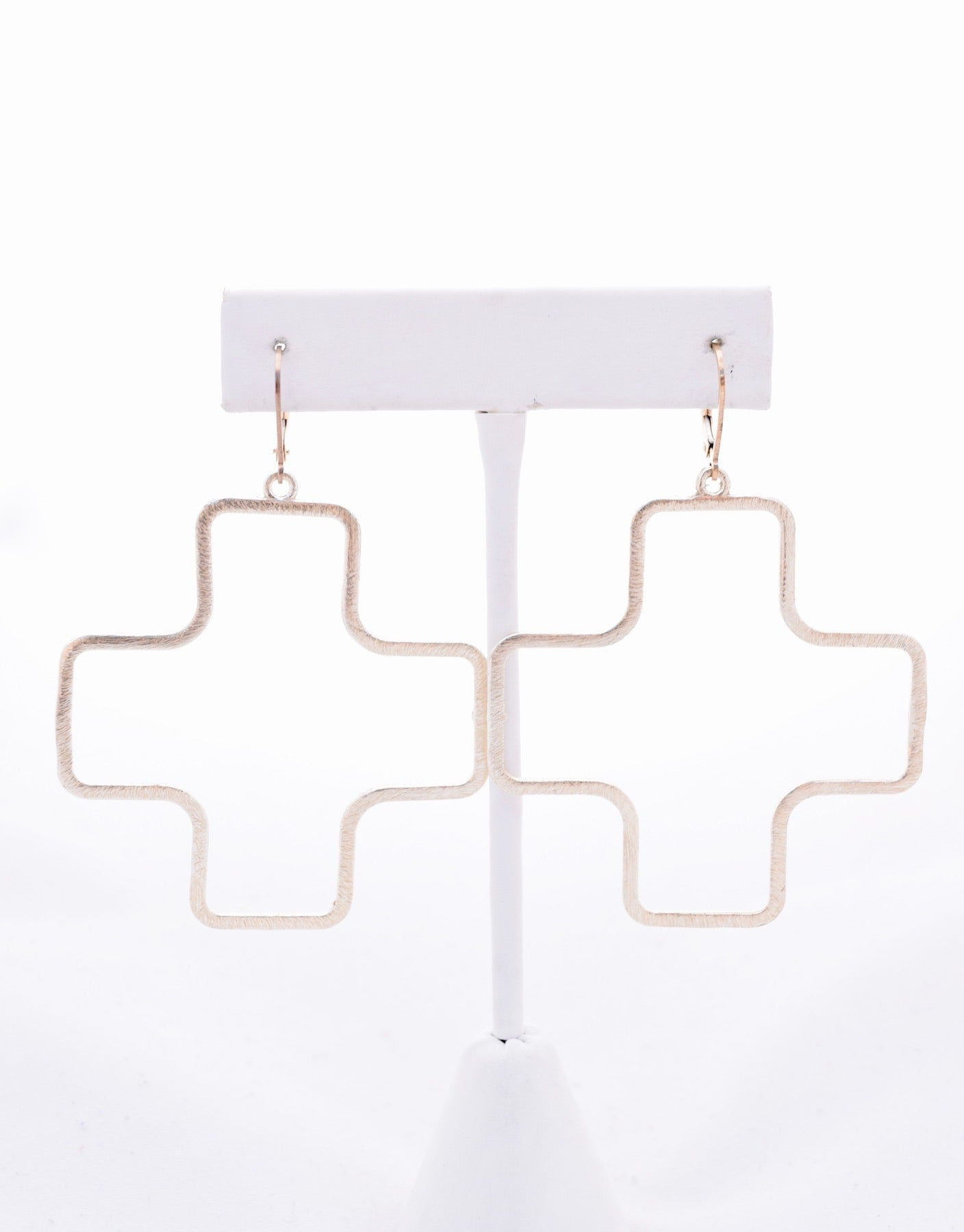 Kassidy Large Gold Cross Earrings