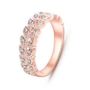 Classical CZ Crystal Ring Rose Gold Color