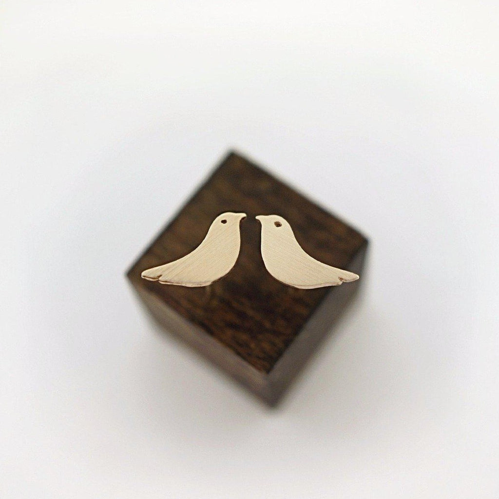 BIRD STUD EARRINGS-AF HOUSE