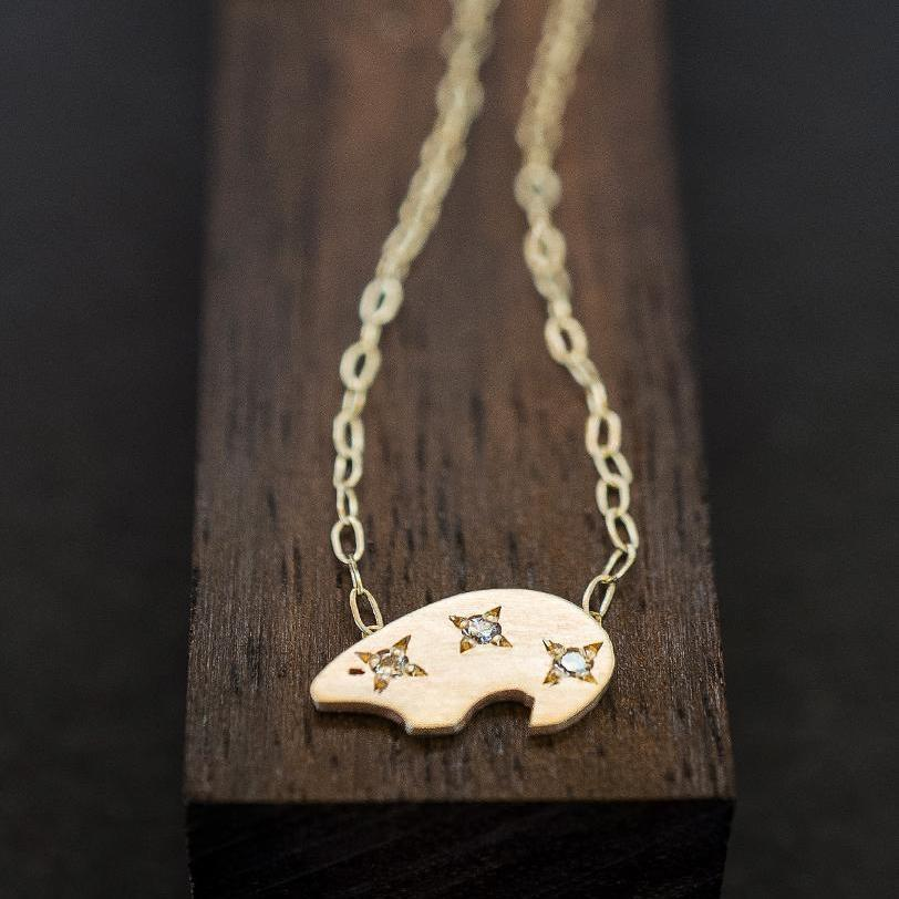 POLAR BEAR NECKLACE-AF HOUSE