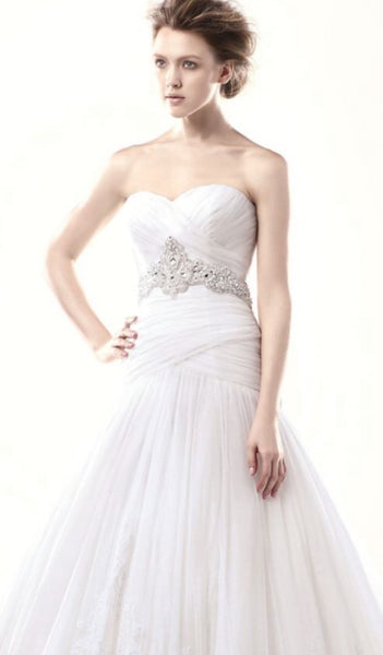 Size 26 enzoani drop waste ball gown