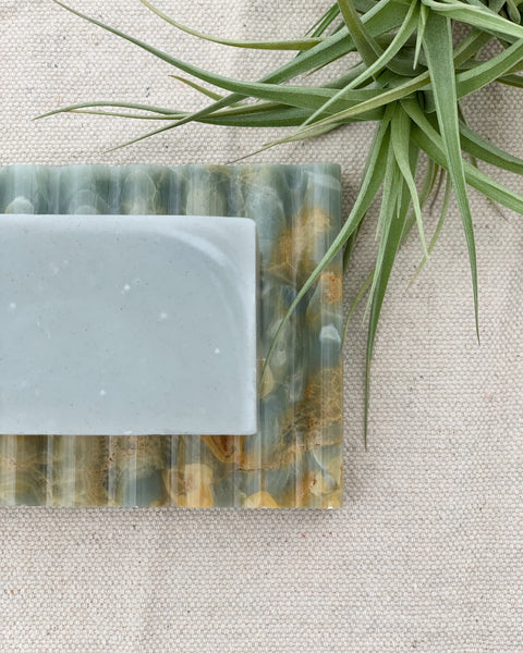 Blue Marble Soap Dish by Binu Binu