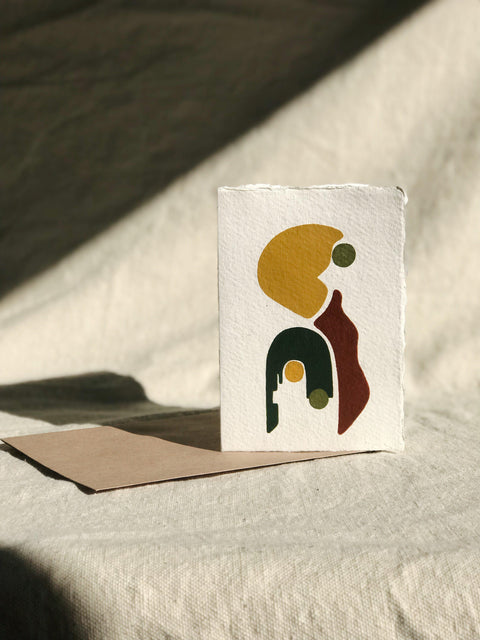 Hand Painted Geometric Card with Envelope | H. SMITH