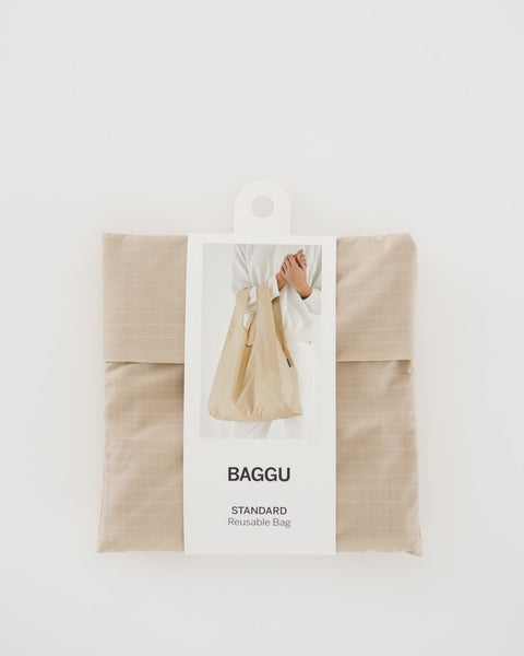 Packaged Khaki Standard Baggu Reusable Bag