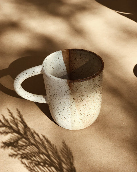 Ceramic Sand Mug by Easy to Breathe