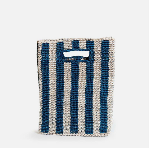 Provence Bag by Someware Goods in Peacock Stripe