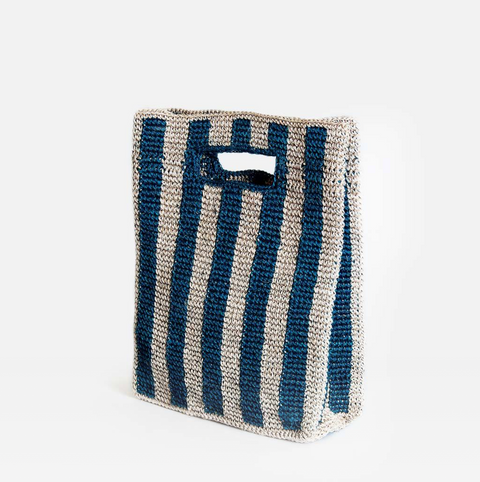 Provence Bag in Peacock Stripe