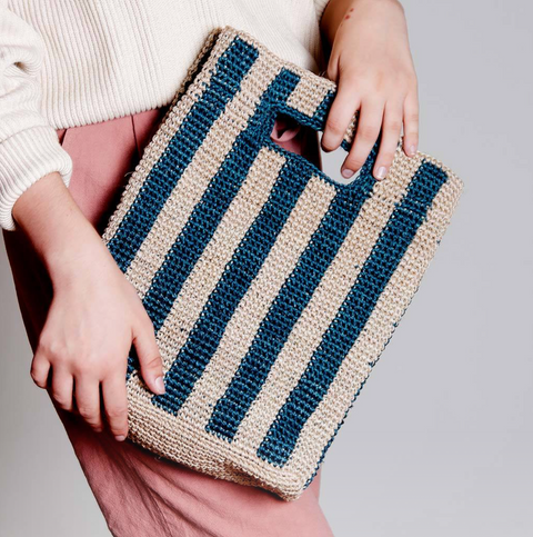Provence Bag in Peacock Stripe by Someware Goods