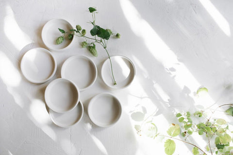 Small White Tapas Bowls by Notary Ceramics