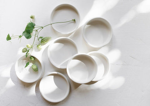 Small White Dishes by Notary Ceramics
