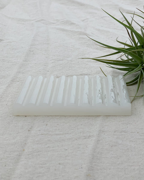 White Onyx Stone Soap Dish by Binu Binu