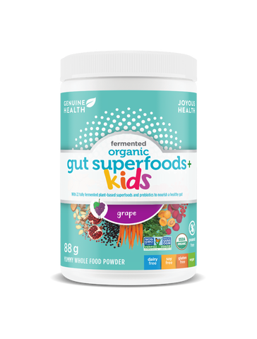 Genuine Health Fermented Organic Gut Superfoods+ Kids (Grape, 88g)