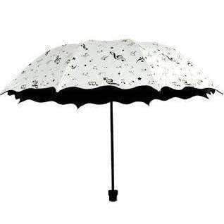 Music Bumblebees Music Gifts Music Themed Musical Notes White Retractable Umbrella