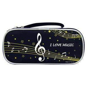 Image of Music Bumblebees Products,Music Stationery,Music Gifts for Kids Black Music Notes Pencil Case - Dual Opening - Black or Pink