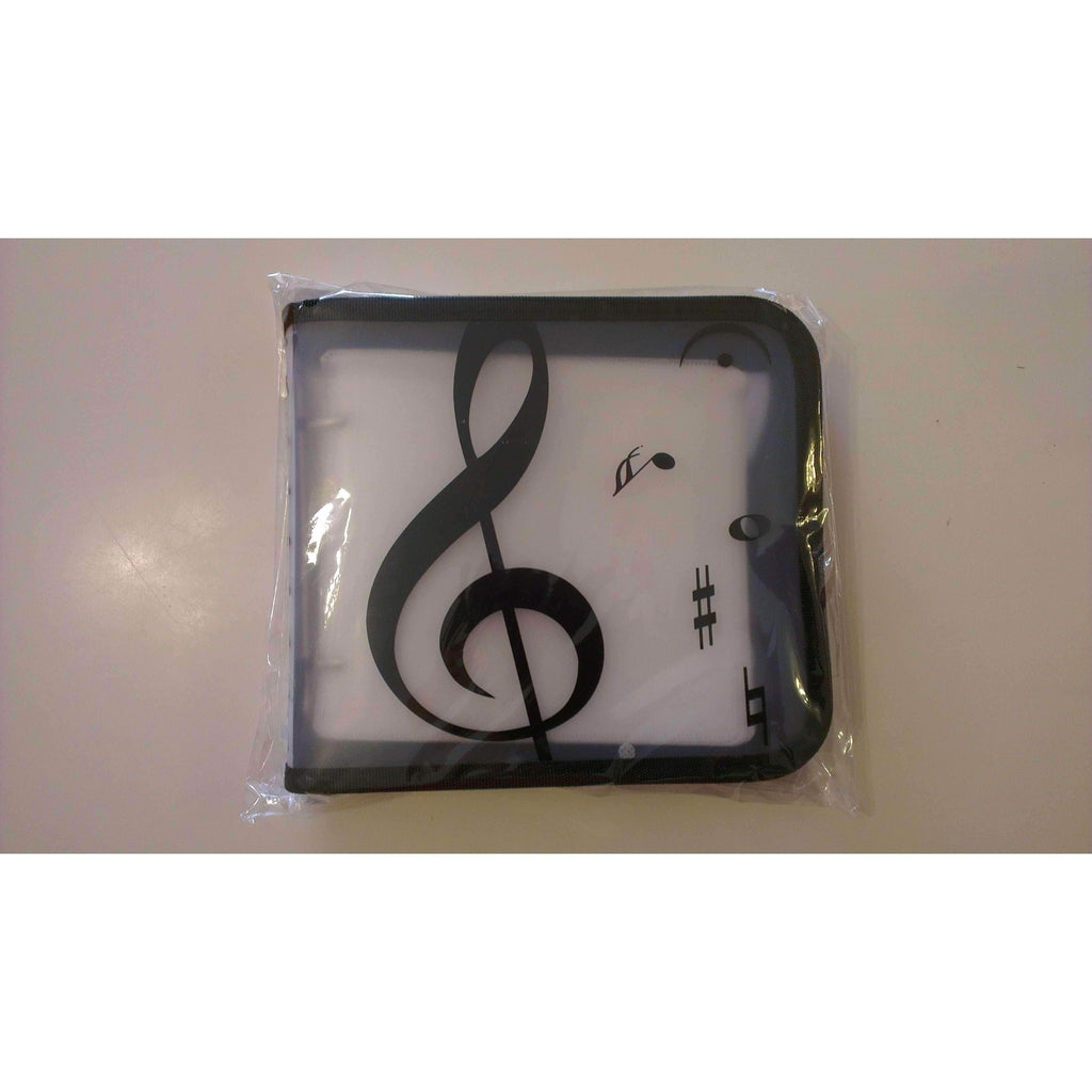 vendor-unknown Products,Music Stationery,Music Gifts,For Students,For Teachers Music Designed 24 Pockets CD/DVD Holder - Black