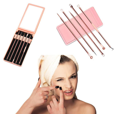 High quality 5pcs/set blackhead  removal tool set , before  microblading - Magic Beans Ink