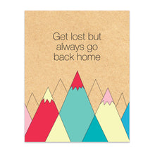 Get Lost But Always Go Back Home Print