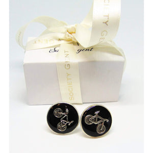 Black Bicycle Cufflinks-cufflinks-Society Gent