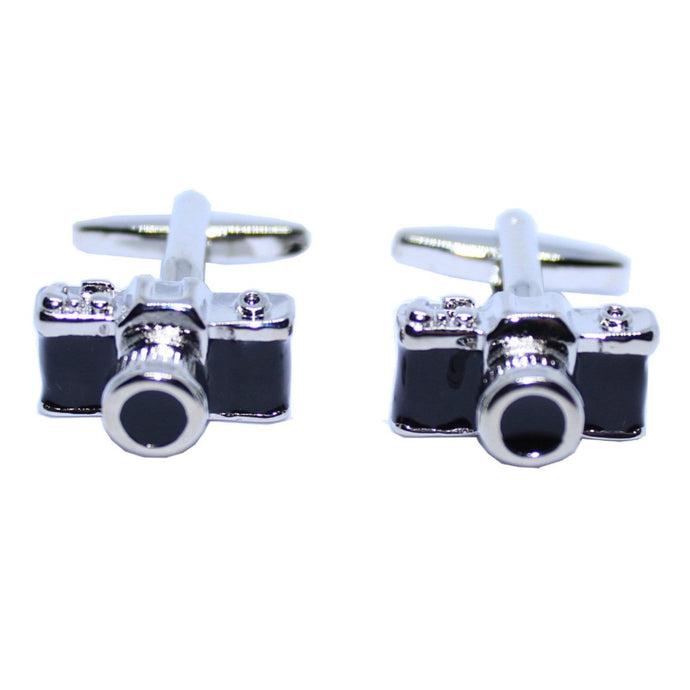 Black Camera Cufflinks-cufflinks-Society Gent