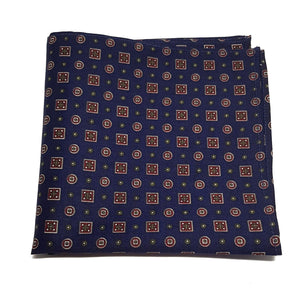 The Westminster - Blue Pocket Square-pocket square-Society Gent