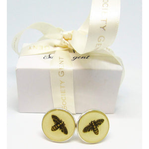 Cream Bee Cufflinks-cufflinks-Society Gent