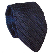 Knitted Navy Blue Skinny Tie-ties-Society Gent
