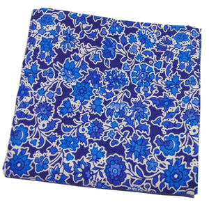 """Pereira"" Liberty of London Blue and White Pocket Square-pocket square-Society Gent"