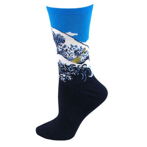 The Great Wave off Kanagawa - Oil Painting Socks - Ideal Men's Gift for Art Lovers and Sock Fans!-socks-Society Gent