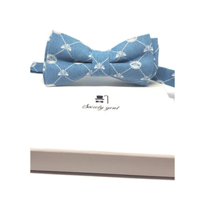 The Beehive Pre Tied Bow Tie with Bee Motifs-bow ties-Society Gent