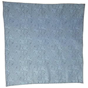 Teal Kissing Faces Pocket Square Set-bow ties-Society Gent