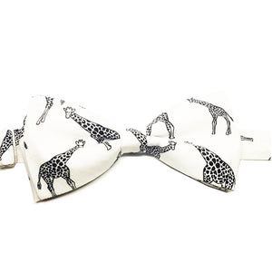 Giraffe Pre-Tied Bow Tie - Society Gent Animal Collection