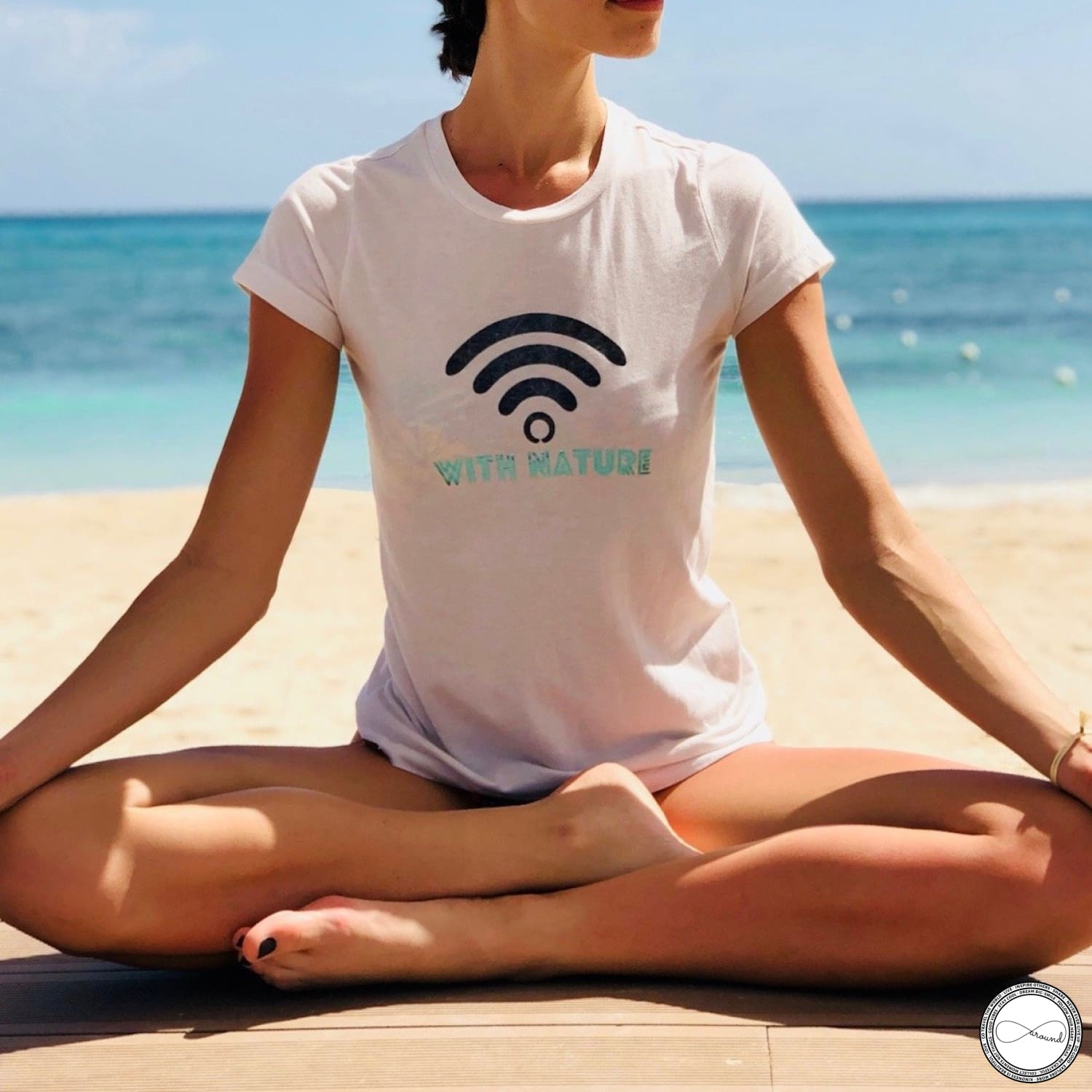 Connected With Nature Travel tshirt by Around Eco,soft tshirt,travel outfit,fairtrade clothing,aroundeco, organic cotton tee