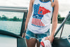 Red, Wake & Blue Tank - White
