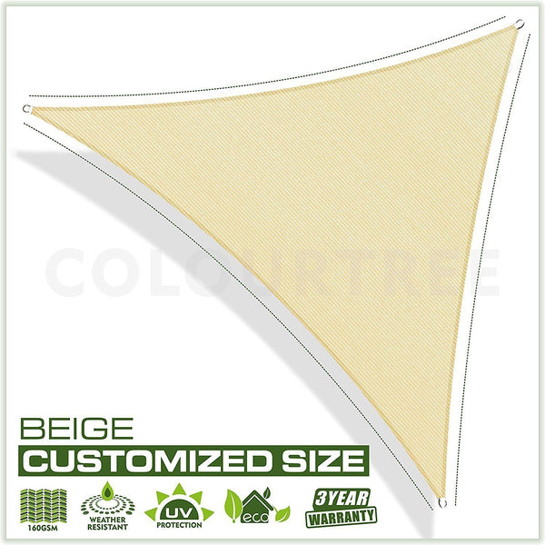 Equilateral Triangle Sun Shade Sail Custom Size Order to Make - Colourtree inc