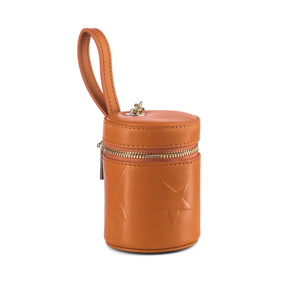 STAR DOG TREATS BAG WITH ZIP – TAN