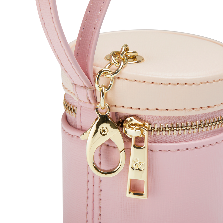 PINK - TAN TREATS BAG