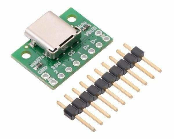 Usb 2.0 Type-C Connector Breakout Board - Connectors