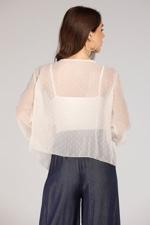 Mesh Dotted Shrug