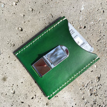Cuttlefish with Money Clip - Green with White Thread
