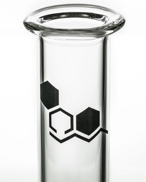 """Basics"" 8"" Clear Glass Beaker Bong"