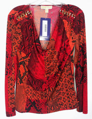 Cookie's Red/Orange Michael Kors Blouse (Sz S)