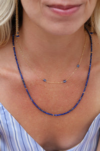 The 3 Stone Necklace - Blue Kyanite