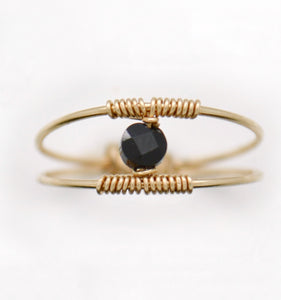 The Black Beauty Tourmaline Ring