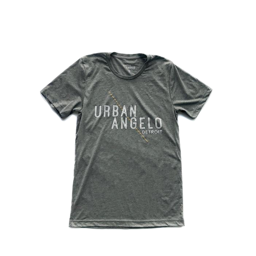 Urban Angelo Logo Tee - Heather Grey