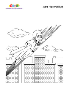 Andre Super Hero Coloring Page