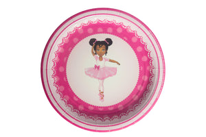 African American Lemba Ballerina Lunch Plates