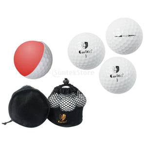 10 Pieces Professional Double Layer Golf Balls for Match or Practice Play